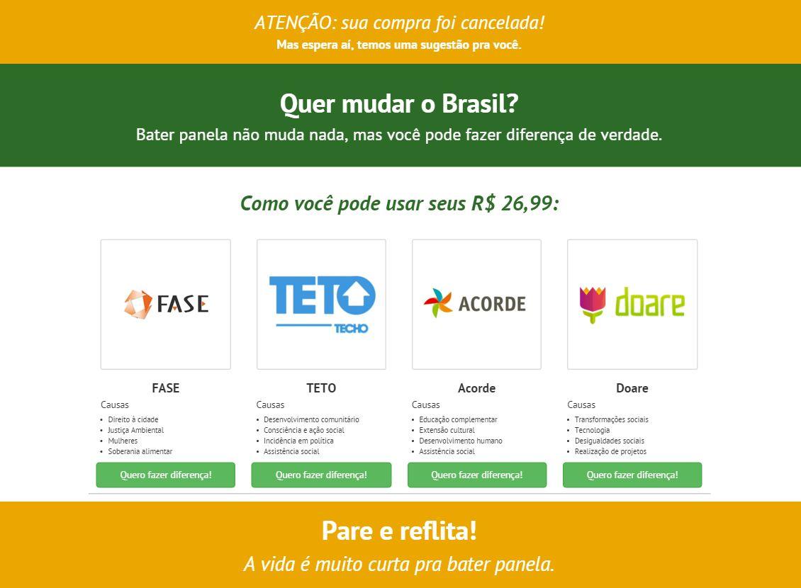 Site Bate Panelaço simula venda de camisetas 27e906837c1cb