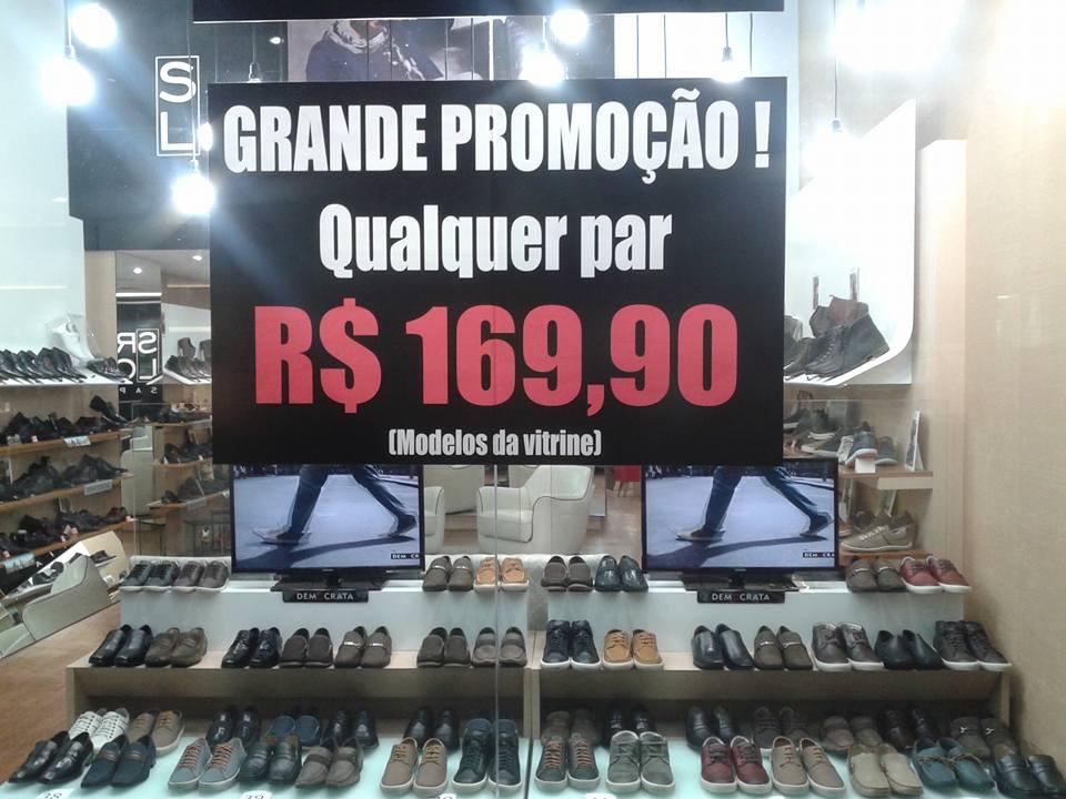 ab7d0688a Sr Lohran faz grande liquidação de sapatos masculinos em Goiânia ...