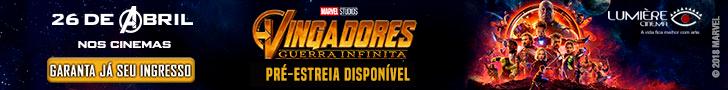 Vingadores Guerra Infinita super banner