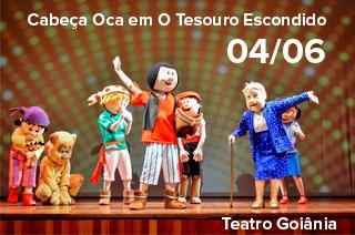 Ingresso com desconto para o espetáculo Cabeça Oca em Goiânia: O Tesouro Escondido