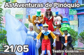 Ingresso com desconto para a peça As Aventuras de Pinóquio em Goiânia