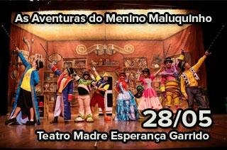 Menino Maluquinho se aventura no mundo dos livros infantis durante espetáculo em Goiânia