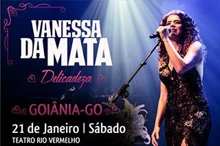 Goiânia recebe Vanessa da Mata com show intimista