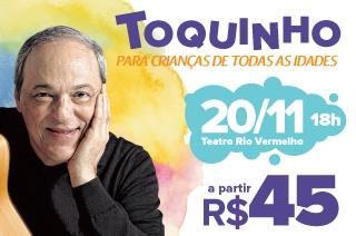 Um show inédito e histórico para toda a família dia 20 de novembro, no Teatro Rio Vermelho às 18h.
