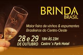 Goiânia recebe o 'Brinda Brasil', maior salão do vinho e espumante Brasileiro, dias 28 e 29 de outubro no Castro´s Park Hotel