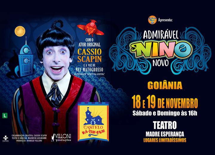 Nino, o eterno menino, convida a todos para este reencontro nos palcos do Teatro.