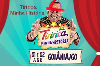 O espetáculo 'Tiririca, Minha História' promete divertir o público de Goiânia com piadas, músicas e brincadeiras