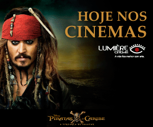 Lumiere Piratas do Caribe Hoje nos cinemas