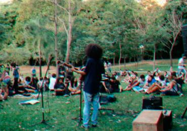 Lago das Rosas reúne artistas e público em sábado ao ar livre