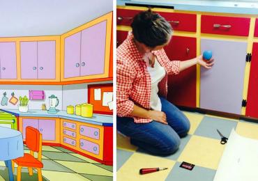 Casal canadense recria a cozinha dos Simpsons em sua casa