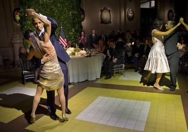 Obama e Michelle dançam tango em jantar na Argentina; veja o vídeo