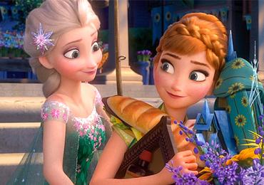 Elsa, Anna e Olaf encantam as crianças em Frozen Fever
