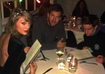 Taylor Swift e Calvin Harris são interrompidos por fã e o resultado é a foto mais invejada do ano