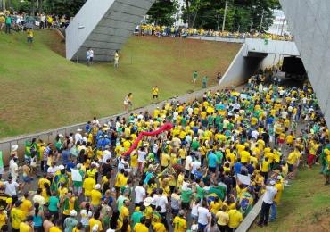 Dados oficiais das manifestações em Goiânia: 90 mil segundo organizadores e 50 mil segundo a PM