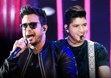 Henrique e Diego, famosos pelo hit Suíte 14, animam balada de Goiânia