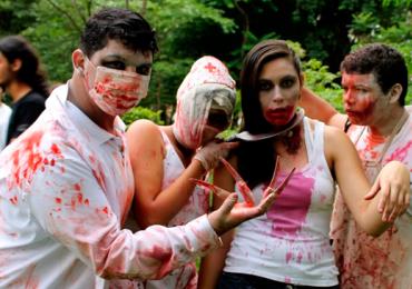 Zumbis invadem o Parque Vaca Brava em Goiânia