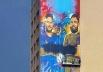 Goiânia ganha painel gigante em prédio com grafite de Jorge e Mateus