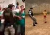 PM empolgado com torcedores do Goiás já foi flagrado jogando bola com crianças na rua; veja vídeo