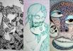 Goiano faz quadros impressionantes usando apenas canetas Bic e papel