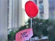 Existe Amor em GYN: mais de 4 mil balões são espalhados em Goiânia levando mensagens de amor