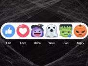 Facebook altera botões de reação para comemorar o Halloween