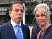 João Dória grava vídeo ao lado da esposa e se pronuncia sobre imagens de orgia que vazou na web