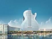 Hard Rock Cafe vai inaugurar primeiro hotel em formato de guitarra do mundo no sul da Florida