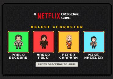 Netflix cria jogo no estilo endless runner com personagens de séries originais