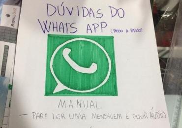 Garoto desenha manual para idosa aprender a mexer no Whatsapp e comove a internet