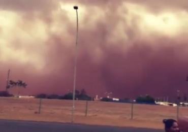 URGENTE: Tempestade de areia invade Itumbiara