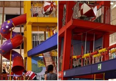 Circuito de atividades radicais com 190m² agita shopping de Uberlândia