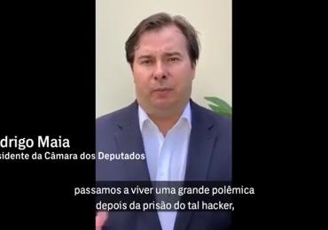 Rodrigo Maia, presidente da Câmara Federal, grava vídeo em apoio ao jornalista Glenn Greenwald: assista