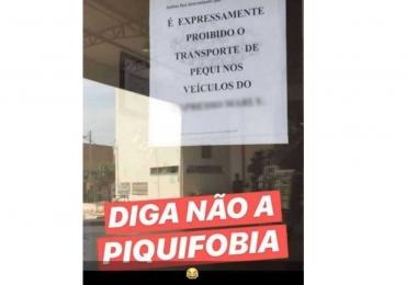 Transporte de pequi em ônibus 'está expressamente proibido' diz aviso de empresa de Goiânia