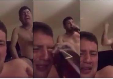 Vídeo: Homem chora e toma whisky enquanto Bruno canta uma sofrência do Bruno e Marrone