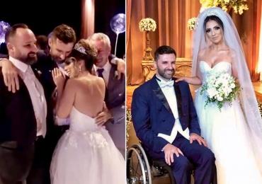 Noivo cadeirante se levanta para dançar valsa e deixa noiva em lágrimas