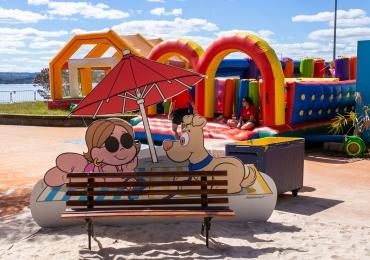 Na Praia tem espaço infantil da Turma da Mônica com muitas atividades para os pequenos