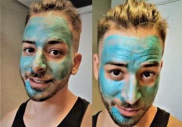 Junior Lima aparece em vídeo com máscara azul para ficar mais 'bonito' para coletiva