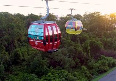Teleférico da Disney inaugurará em poucos dias e vai ligar parques e resorts