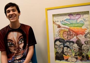 Artista goiano de apenas 15 anos está no Programa Encontro com Fátima Bernardes desta terça
