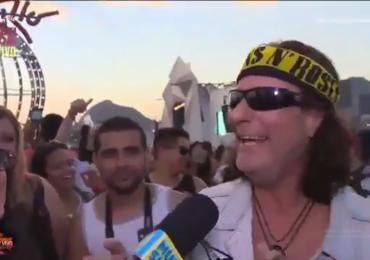 Fã de Guns N' Roses faz trollagem e põe Bruno de Lucca em saia justa ao vivo no Rock in Rio; assista