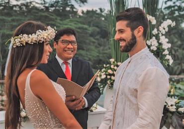 Após casamento aos pés do Cristo Redentor, Alok e Romana renovam votos em Bali, na Indonésia