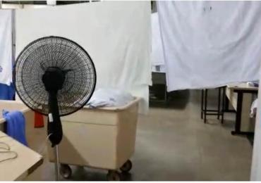 Servidores usam ventilador para secar roupas em hospital de Taguatinga; veja vídeo