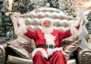 Shopping de Brasília recebe Papai Noel e personagens de desenho para animar os pequenos