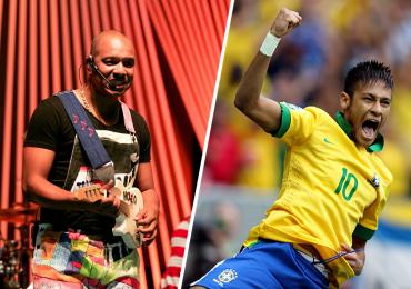 Molejo faz show em dia de arena oficial da Copa do Mundo no evento Deu Praia, em Goiânia
