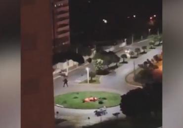 Paraquedistas são flagrados pulando de prédio em Goiânia; assista