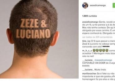 Zezé di Camargo comemora homenagem fake e vira piada na internet