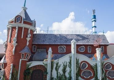 Exposição Rá-Tim-Bum, o Castelo no Memorial da América Latina em São Pulo