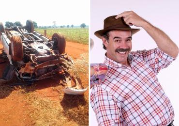 Humorista Tom Carvalho, parceiro de Nilton Pinto, sofre acidente de carro em Goiás