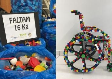 Tampa Solidária: projeto arrecada tampinhas plásticas para comprar cadeiras de rodas