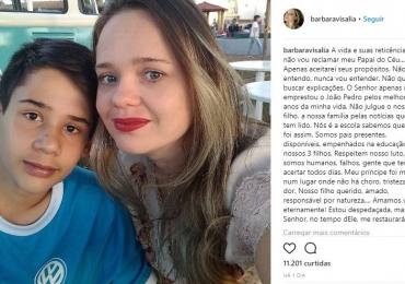 Mãe do garoto morto em atentado em Goiânia publica desabafo emocionante